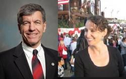 Ohio State Tax Commissioner Joe Testa and Policy Matters Ohio's Amy Hanuer (both official staff photos)
