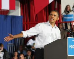 President Obama in Mentor last year, campaigning for re-election (pic by Brian Bull)
