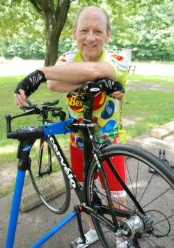 Bill Cloninger trains in the Cleveland Metroparks