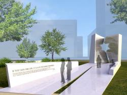 Artist's rendering of the Holocaust Memorial in Columbus.