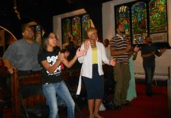 A Sunday fundraiser and memorial service was held for all three victims at Empowerment Church (photo by Brian Bull)