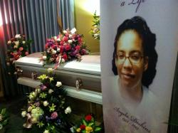 A memorial service and funeral was held for Angela Deskins beginning Friday night (photo by Brian Bull)