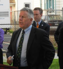 Cuyahoga County Prosecutor Tim McGinty addresses reporters (pic by Brian Bull)