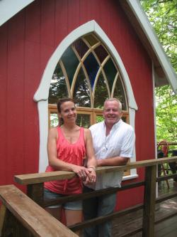 Mohican Cabins' proprietors, Laura and Kevin Mooney (photo by Brian Bull)
