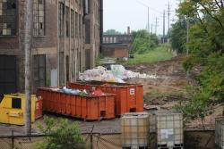 The site where Cleveland officials allege trash was illegally dumped. (Photo: City of Cleveland)