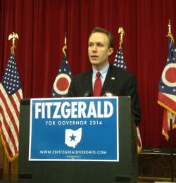 Democratic gubernatorial candidate Ed Fitzgerald, in Columbus today (photo by Andy Chow).