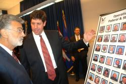 U.S. Attorney Steven Dettelbach discusses indicted drug suspects with Cleveland Mayor Frank Jackson