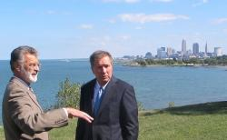 Jackson and Kasich - political opposites - have jointly backed lakefront development and Cleveland school reform (pic by Brian Bull)