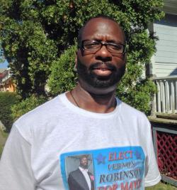 Vernon Robinson says fights between the mayor and council hold the city back. (Nick Castele / ideastream)