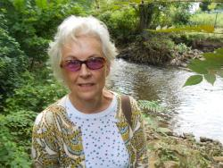 Akron resident Donna Webb says locals are wary of the river's quality (pic by Brian Bull)