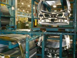 GM Parma plant.  Auto production has helped revive ArcelorMittal (pic by Brian Bull)