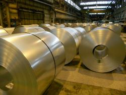 Coils of flat-rolled steel inside ArcelorMittal Cleveland (pic by Brian Bull)