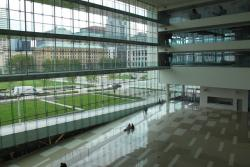 The atrium at the Global Center for Health Innovation.