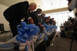 The ribbon is cut (pic by Sarah Jane Tribble)