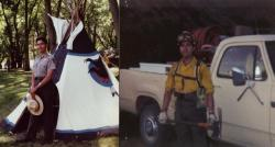 ideastream's Brian Bull in a former life as a National Park Service Ranger and one-time firefighter.