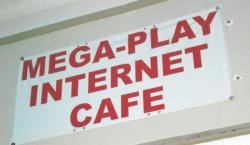 Internet Cafe Sign (photo by Brian Bull)