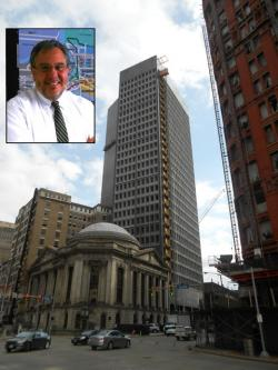 Downtown Cleveland Alliance President Joe Marinucci (insert) has high hopes for the Geis Companies' Ameritrust project (pic: Brian Bull)