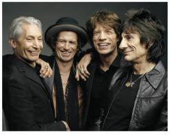 The Rolling Stones (from left): Charlie Watts, Keith Richard, Mick Jagger, Ron Wood (photo by Mark Seliger)