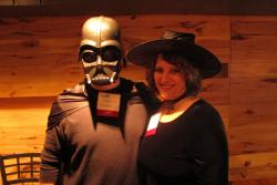 Darth Vader and Witch Hazel - actually NEOHUA's Joe Blasko and Ingrid Martin - were among the attendees (pic:Brian Bull)
