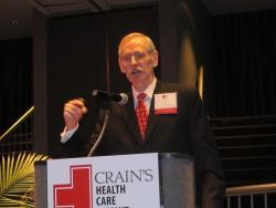 J.B. Silvers of Case Western Reserve U. (pic taken at Crain's Health Care Summit by Brian Bull)