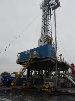 Natural gas drilling site (WCPN stock photo)