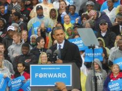 President Obama speaks in Cleveland during the 2012 campaign. (Bill Rice / ideastream)
