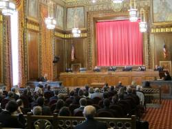 Ohio Supreme Court in session. (ideastream file photo by Karen Kasler)