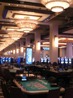 Blackjack tables at the Horseshoe Casino Cleveland (pic by Brian Bull)