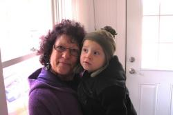 Marilyn Lombardo and her great nephew, Charlie (pic by Brian Bull)