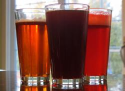 A trio of microbrews, reflecting the diversity of product across the industry (pic by Brian Bull)