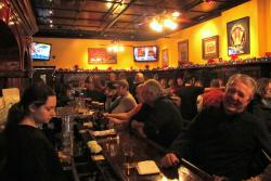 Patrons fill the Great Lakes Brewing Company and Restaurant's bar area (pic by Brian Bull)