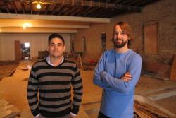 Justin Carson (L) and Paul Benner (R), partners behind Platform Beer Co. (pic by Brian Bull)