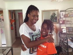 Jeanine Small and her daughter Amari