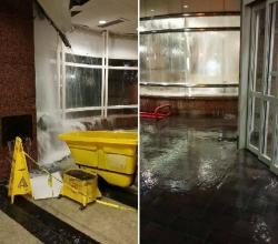 Last night's `waterfall' at the waiting area for Blue/Green lines (photo from RTA)
