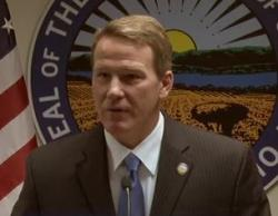 Secretary of State Jon Husted in a Dec. 2013 press briefing broadcast on The Ohio Channel.