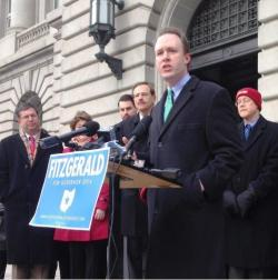 Cuyahoga County Executive Ed FitzGerald at a Jan. 16 campaign event in Cleveland. (Nick Castele / ideastream)