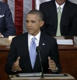 President Obama delivers the State of the Union address. (Image: Screen grab from White House video.)