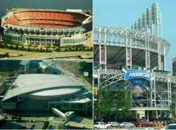 The stadium, field, and complex where the Browns, Cavs, and Indians play before regional sports fans (pic: Brian Bull)