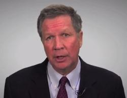 Gov. John Kasich in a YouTube video announcing his mid-biennium budget proposal.