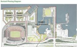 Illustration of development plan from Cumberland's proposal. (Source: City of Cleveland)