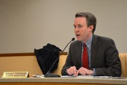 Ed FitzGerald speaks to Cuyahoga County Council. (Nick Castele / idestream)