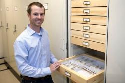 Gavin Svenson and his specimens (CMNH)
