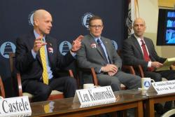 Panelists at today's City Club event (pic by Brian Bull)