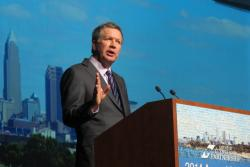 Ohio Governor John Kasich at the Greater Cleveland Partnership's annual meeting (pic by Brian Bull)