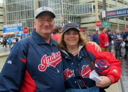 Baseball fans Matt and Caroline Holub think the Tribe has a promising lineup (pic by Brian Bull)