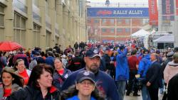 Indians fans fill 'Rally Alley' outside Progressive Field (pic by Brian Bull)