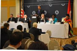 All six Democratic candidates for Cuyahoga County executive debated at the City Club in April 2014.