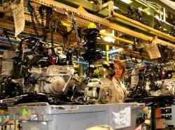 WCPN stock photo of Honda assembly line, 2012.