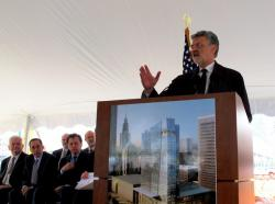 Cleveland Mayor Frank Jackson at today's event (pic: Brian Bull)