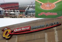 First Energy Stadium, Progressive Field, and The Q (pics: Brian Bull, Andrew Samtoy)